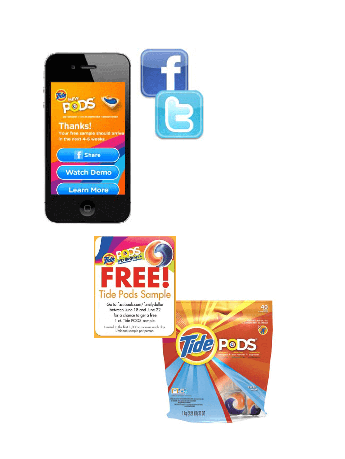 web and social media based sampling campaign tide pods launch ccg